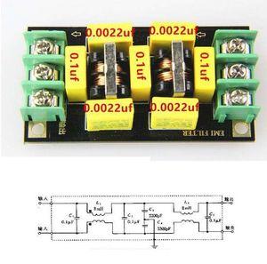 Image 1 - 110V 220V AC Filtro di Alimentazione di Bordo 4A Filtro EMI Noise Suppressor Audio Purificatore Amplificatore Rumore Impurità Depuratore filtraggio