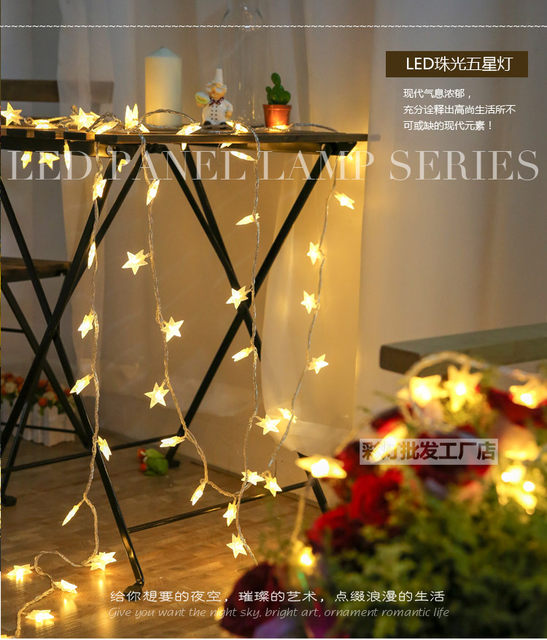 5M 28LED Twinkle Star Party Fairy Lights Birthday Wedding Light Decoration  Shop Cafe Kids Room Christmas Decorations Home Decor