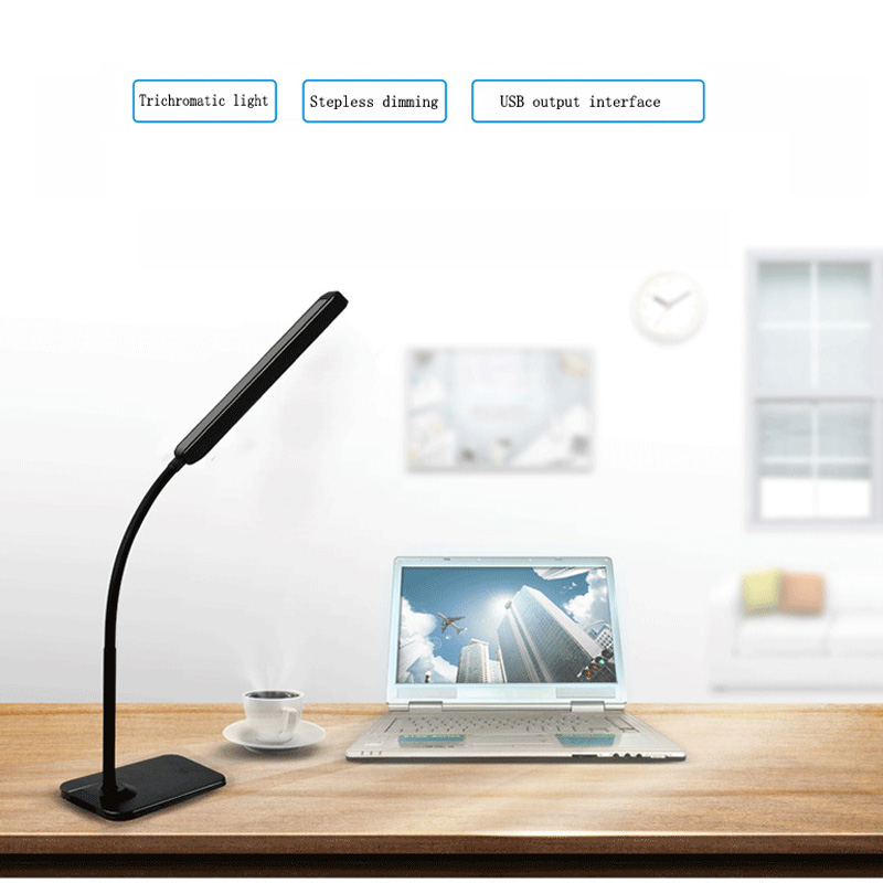 Eye protection LED desk lamp Levels dimmer and color touch control flexible reading research office desk lamp cold / warm light