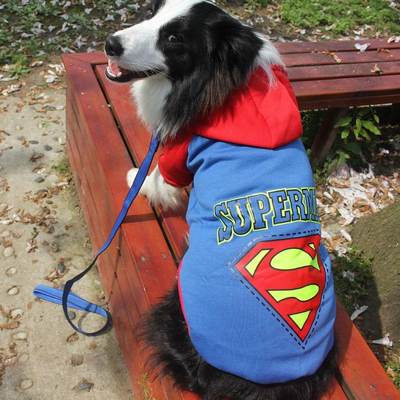 Superman Hund Kleidung Coole Kleidung Fur Grosse Hunde Pullover Grosse