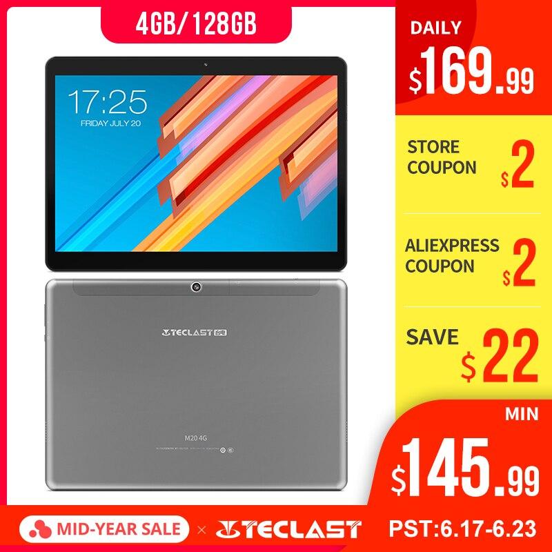 10.1 pouces 1920*1200 tablette PC Teclast M20 MT6797 X23 Deca Core Android 8.0 4 GB RAM 128 GB ROM double 4G téléphone tablettes double Wifi GPS
