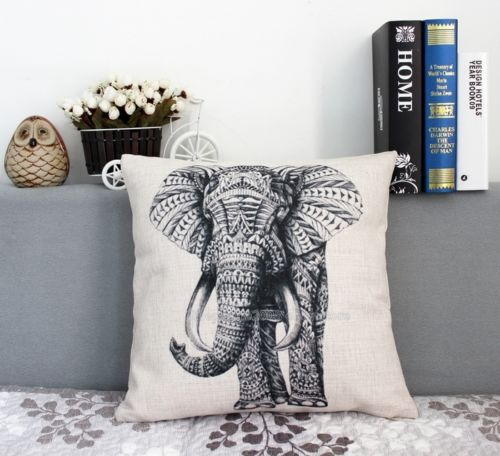 Retro Vintage Elephant Cushion Cover Armored Elephant Throw Pillow Case Linen Animal Decorative Pillow Covers 18 Home Decor Cushion Cover Elephant Cushion Coverdecorative Pillow Covers Aliexpress