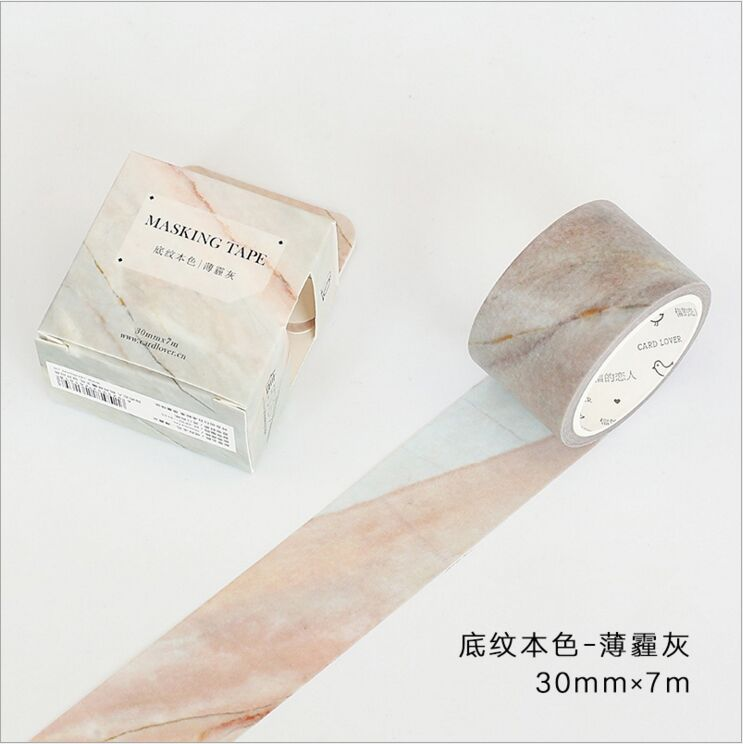30mm Wide Wood Grain Haze Grey Shading Color Decoration Washi Tape DIY Planner Diary Scrapbooking Masking Tape Escolar