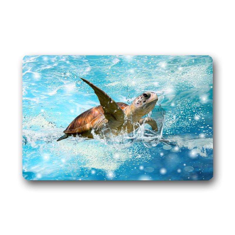 Sea Turtle Printed Floor Carpet Bathroom Kitchen Entrance 40X60cm/50X80cm Non-slip Door Mat Indoor Outdoor Rugs