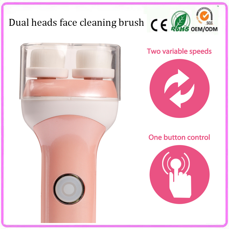 Electric Rotating Facial Pores Cleaning Cleansing Washing Brush Face Cleaner Cleanser Skin Exfoliator Brightening Machine touchbeauty 3 in1 rotating facial cleansing brush set with 3 replacement brush heads 2 speed settings with storage box tb 0759a