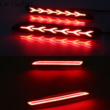 2Pcs Car LED Rear Bumper Reflector Brake Lights Red Lamp for Lexus IS-F GX470 RX300 for Toyota Camry Sienna Venza Reiz Innova(China)