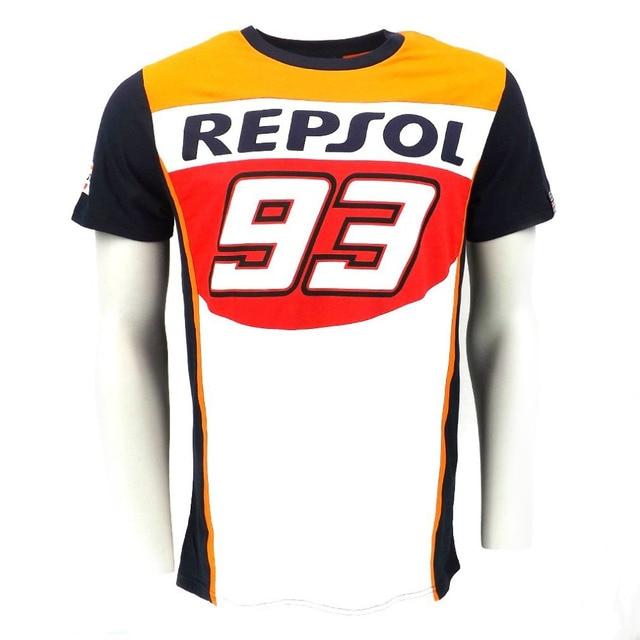 2016 New Fashion 100% Cotton 93 Marc Marquez Motogp Shirt REPSOL motorcross Motorbike T-Shirt plus size M-XXL
