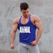 e569ca385c5 2018 Mens summer gyms clothing Fitness Bodybuilding Tank Top Stringer  Singlet Crossfit Vest sleeveless shirts male Sling