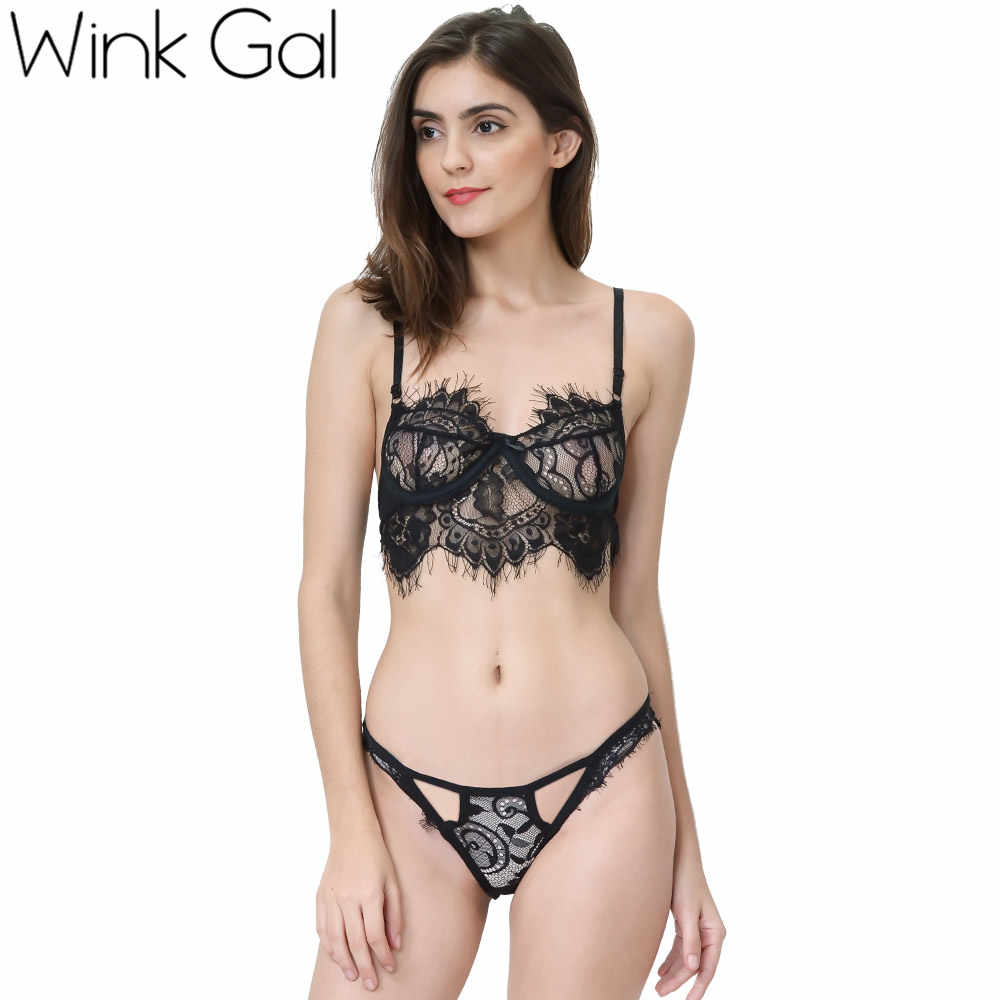 c2aca9e9d9f8 Detail Feedback Questions about Wink Gal 2017 Sexy Women Bra Sets Hot  Bralette Triangle Lingerie Transparent Black White Push Up Brassiere W12059  on ...