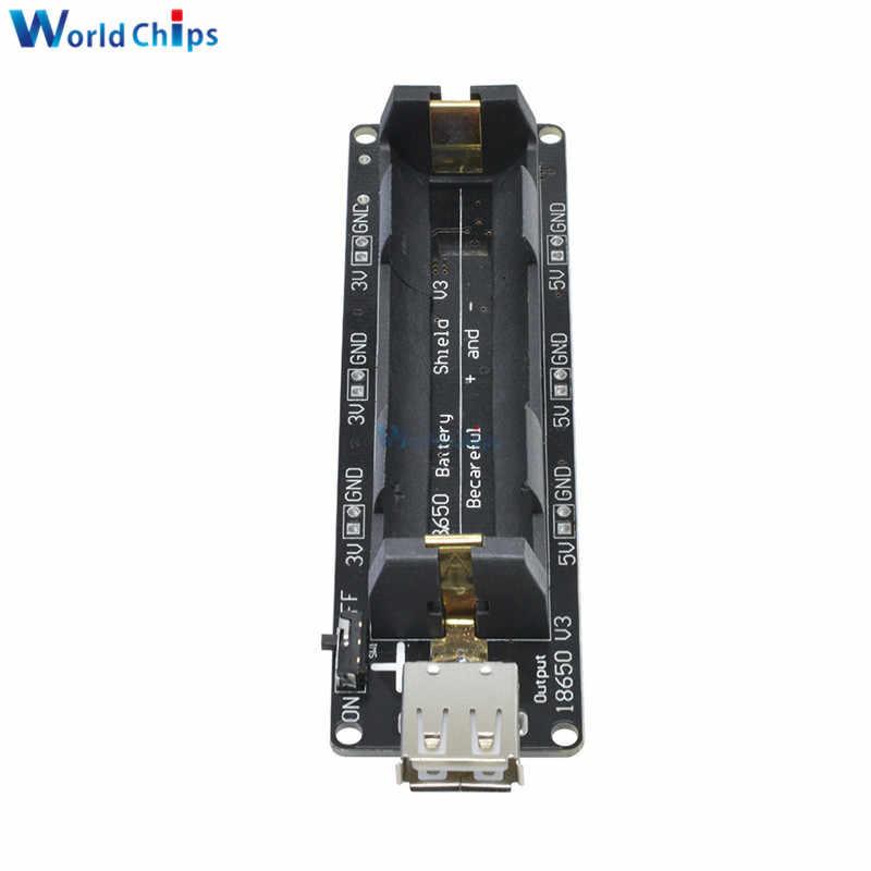 18650 Battery Shield V3 For Raspberry Pi WEMOS For Arduino Micro USB Type-A USB Output Diy Kit