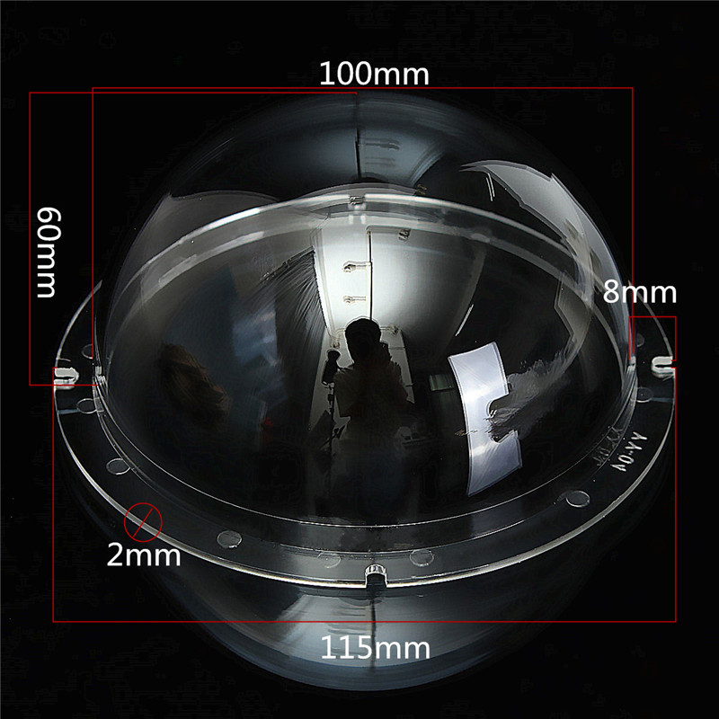 4 Inch Indoor Outdoor CCTV Replacement Acrylic Clear Cover Surveillance Cameras Security Dome Protector Housing Transparent Case