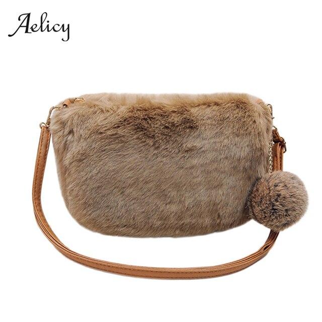 Aelicy Высокое качество для женщин клатч плюшевые сумки осень зима Тип Сумка милая леди модные сумки Bolsas