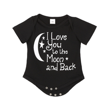 New Hot Newborn Clothes Lovely Baby Boys Girls Rompers Infant Letters Printed Jumpsuit Cotton One-piece Romper