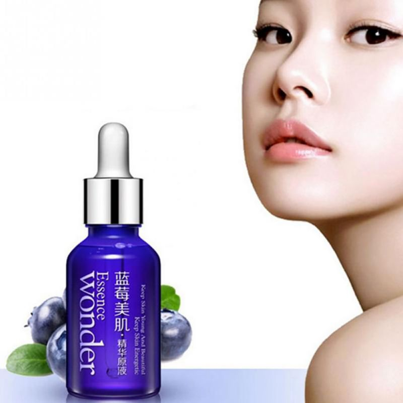 Blueberry Hyaluronic Acid Liquid Skin Care Anti Aging Facial Hidratante Anti Wrinkle Essence Oil