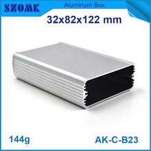 4pcs/lot anodizing aluminum enclosure electronic cabinet for LED light control 32*82*122mm