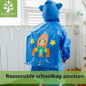Image 3 - Kocotree Student Backpack Belt Raincoat Baby Children Cartoon Rainproof Rain Coat Girls And Boys Waterproof Poncho Rain Cover