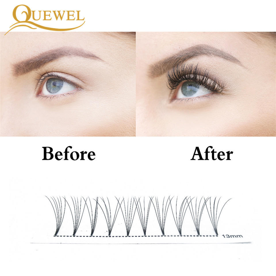 ac0fbc3d3ca Premade Volume Fans Lash Russian Volume Professional Eyelash Extensions C&D Curl  Eyelash Extension Faux Mink Quewel 3D/4D/5D/6D-in False Eyelashes from ...