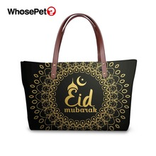 WHOSEPET Ladies Top-handle Bags Muslim Style Women Shoulder Female Fashion Handbags Waterproof Clutch Hand 2019 New