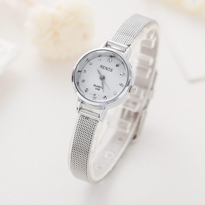 RENOS Klocka Kvinnor Med Box Enkel Svart Vit Rosa Armbandsur Mode - Damklockor - Foto 6