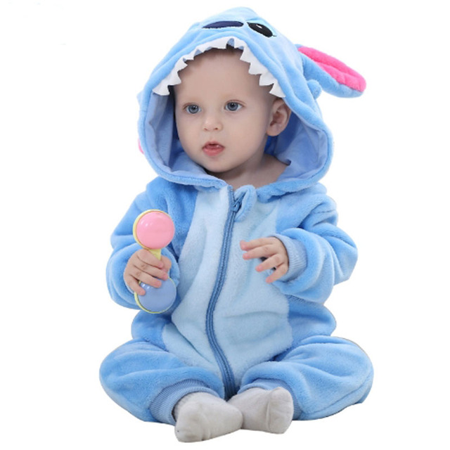 5a857223cfab Newborn Baby Boy Clothes Cotton Flannel Romper Lining Quilted Girl Jumpsuit  Cartoon Animal Winter Rompers Infant Clothing Set