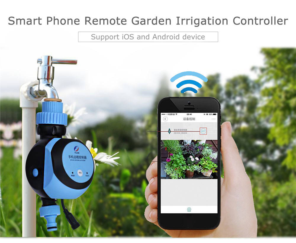 Automatic intelligent electronic water timer smart phone for Garden water filter system