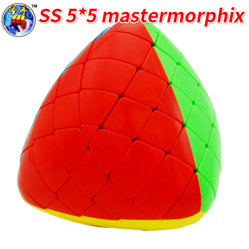 New Arrival of Shengshou Mastermorphix 5x5x5 Cube Rice Dumpling Stickerless Magic Cube Speed Puzzle Cube ToysNew Arrival of Shengshou Mastermorphix 5x5x5 Cube Rice Dumpling Stickerless Magic Cube Speed Puzzle Cube Toys
