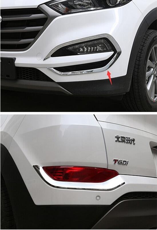 Bright Style For Hyundai Tucson 2016 2017 2018 ABS Chrome Front Rear Bumper Fog Light font