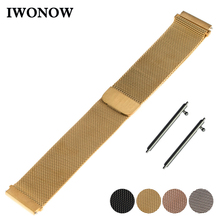 Milanese Stainless Steel Watch Band 16mm 18mm 20mm 22mm for