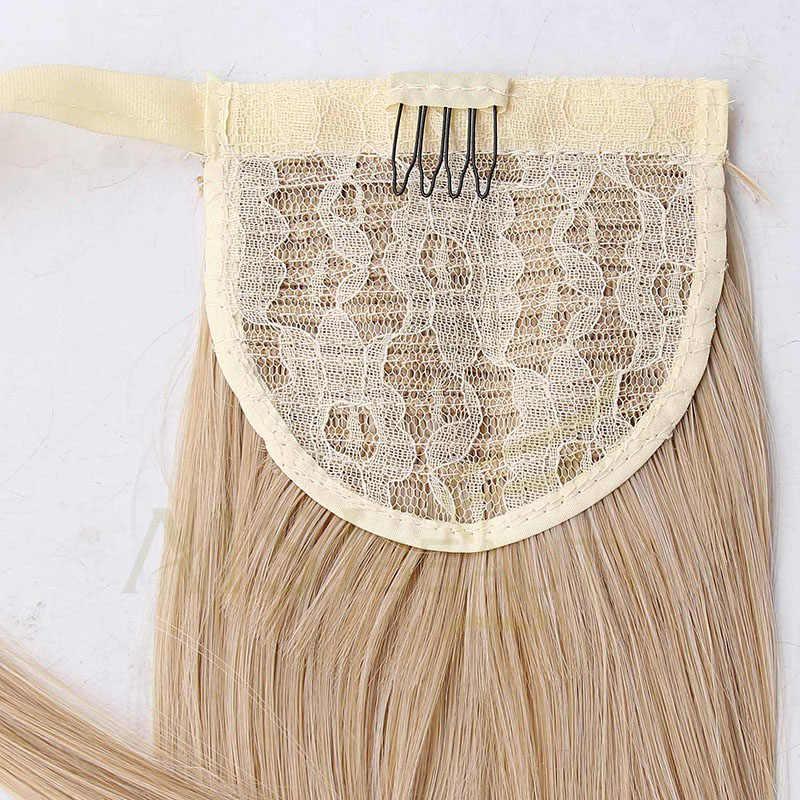 """AISI belleza 22 """"24"""" de onda larga Clip en pelo cola falsa pelo de cola de caballo Peluca de pelo sintético de en clip de extensiones de cabello"""