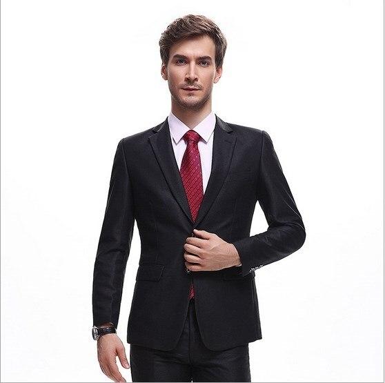 Jacket Pants) Business Party Dress Groom Wedding 2 Piece Designs ...