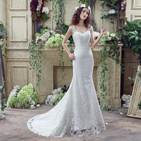 Under 100 Stock Cheap Lace Up Lace Ivory Bridal Dress Wedding Gowns Simple Floor Length White
