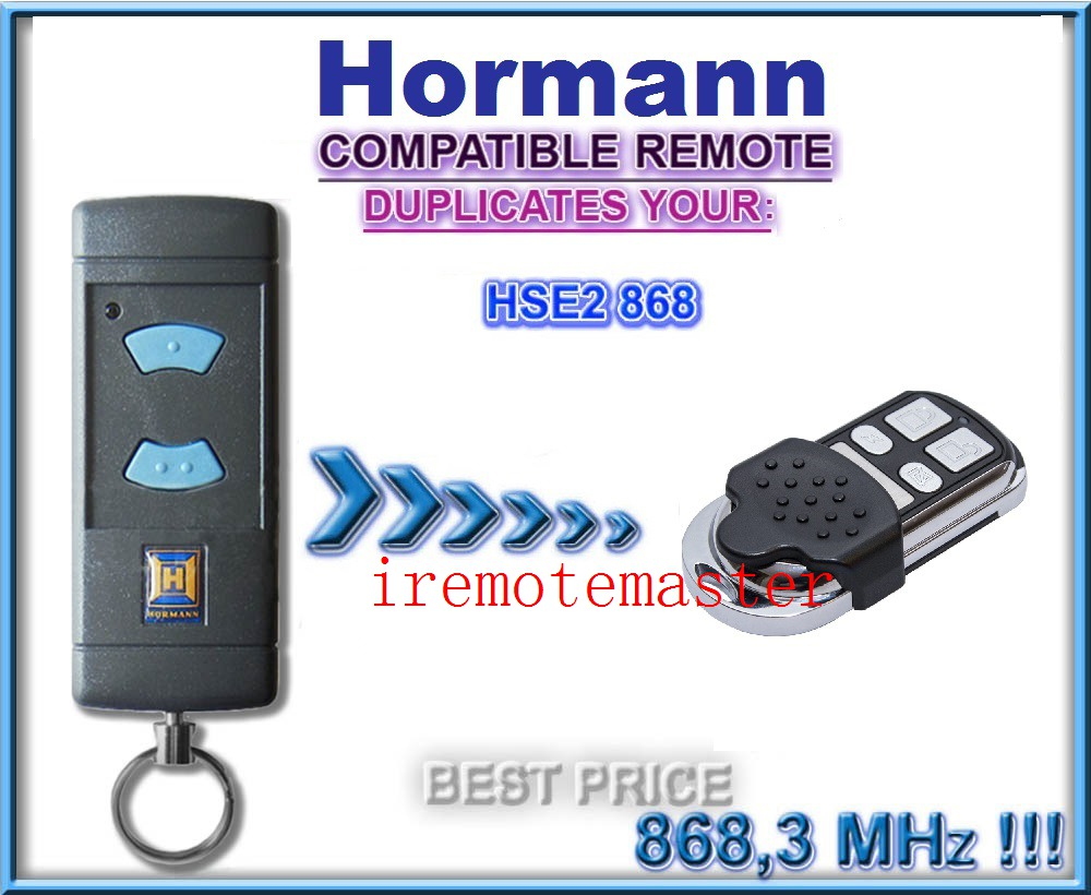HORMANN (Blue buttons compatible) HSE2 868Mhz Garage Door/Gate Remote Control Replacement/Duplicator