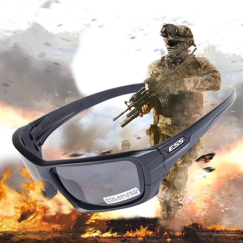 Prix pour ESS ARCEAU Polarisées Tactique lunettes de Soleil UV protection Militaire Lunettes TR90 Armée Google pare-balles Lunettes, 4 lentille 3 couleurs