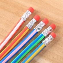Lote de 60 unidades de pluma Flexible Deformable de colores, venta al por mayor, Regalo de Promoción lápiz, premio de regalo kawaii para estudiantes