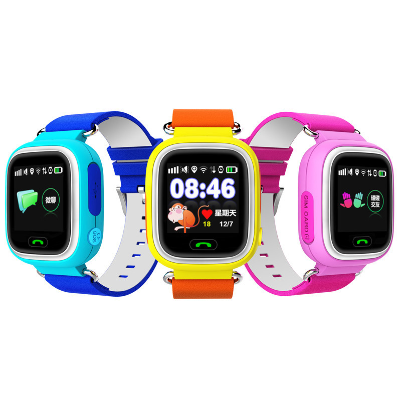 1.22 OLED Touch Screen kids smart watch GPS tracker Safe Anti Lost Monitor Baby Wristwatch SOS Call Location Finder Locator