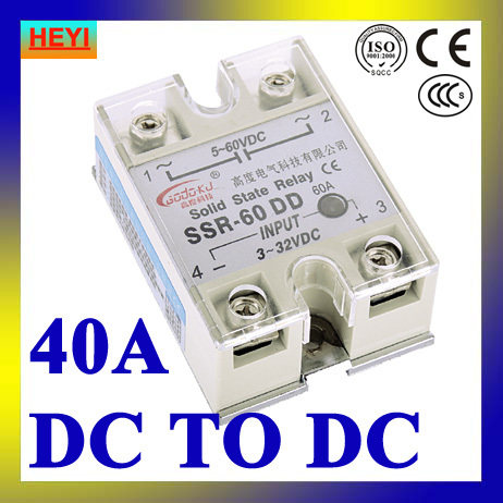SSR 40DD DC to DC single phase solid state relaySSR 40DD Input 3