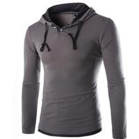 T Shirt Men Brand 2016 Fashion Men S Hooded Stitching Design Tops Tees T Shirt Men