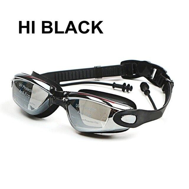 5544ac46c074 Gafas de natación miopía de silicona profesional Anti-niebla UV gafas de  natación con auricular para hombres mujeres dioptrías gafas deportivas