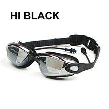 Диоптрийные плавательные очки, профессиональные силиконовые плавательные очки при близорукости, антизапотевающие, УФ-защитные, плаватель...
