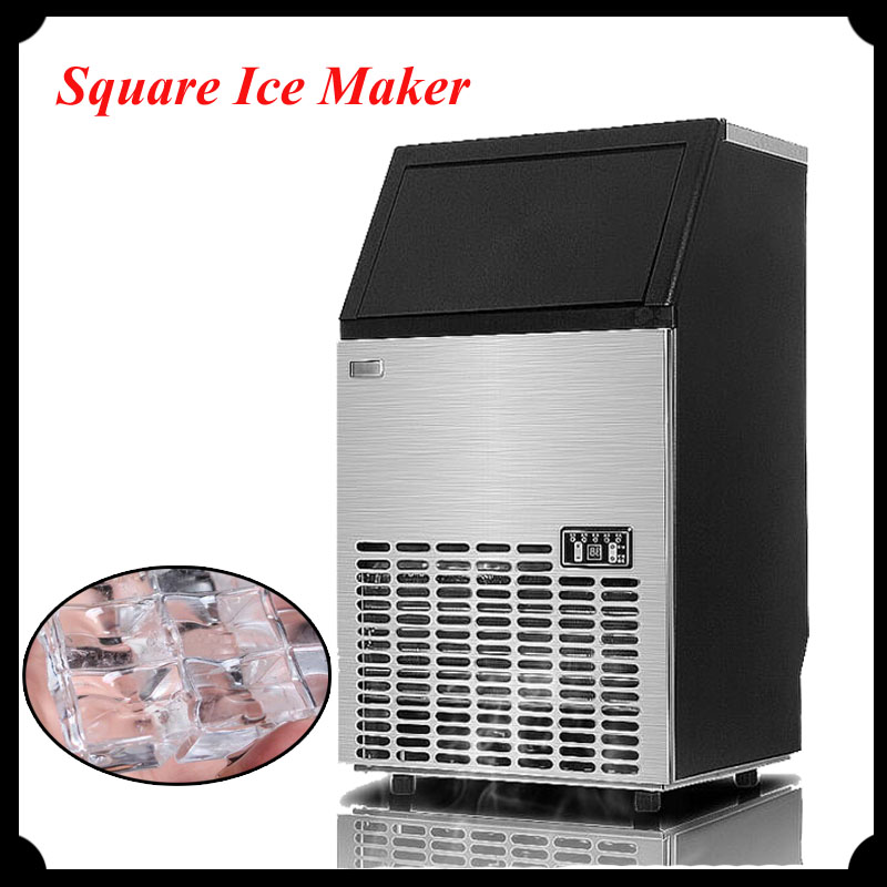 Commerical Ice Making Machine 55kg Ice Maker for Milk Tea Shop Square Ice Maker HZB-50 edtid new high quality small commercial ice machine household ice machine tea milk shop