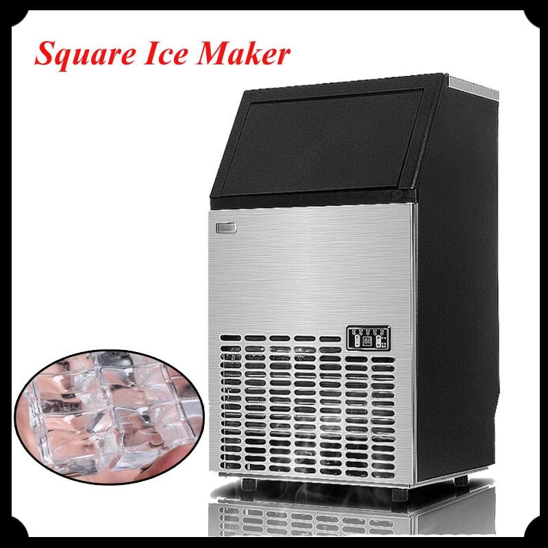Commerical Ice Making Machine 55kg Ice Maker for Milk Tea Shop Square Ice Maker HZB-50