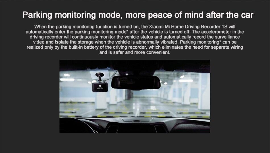 Original Xiaomi Mijia Carcorder 1S Smart DVR Car Driving Camera Recorder F1.8 1080P 160 Degree Wide Angle 3 Inch HD Screen (7)
