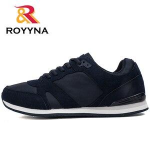 Image 4 - Туфли ROYYNA мужские повседневные, дышащие удобные, на шнуровке, весна осень