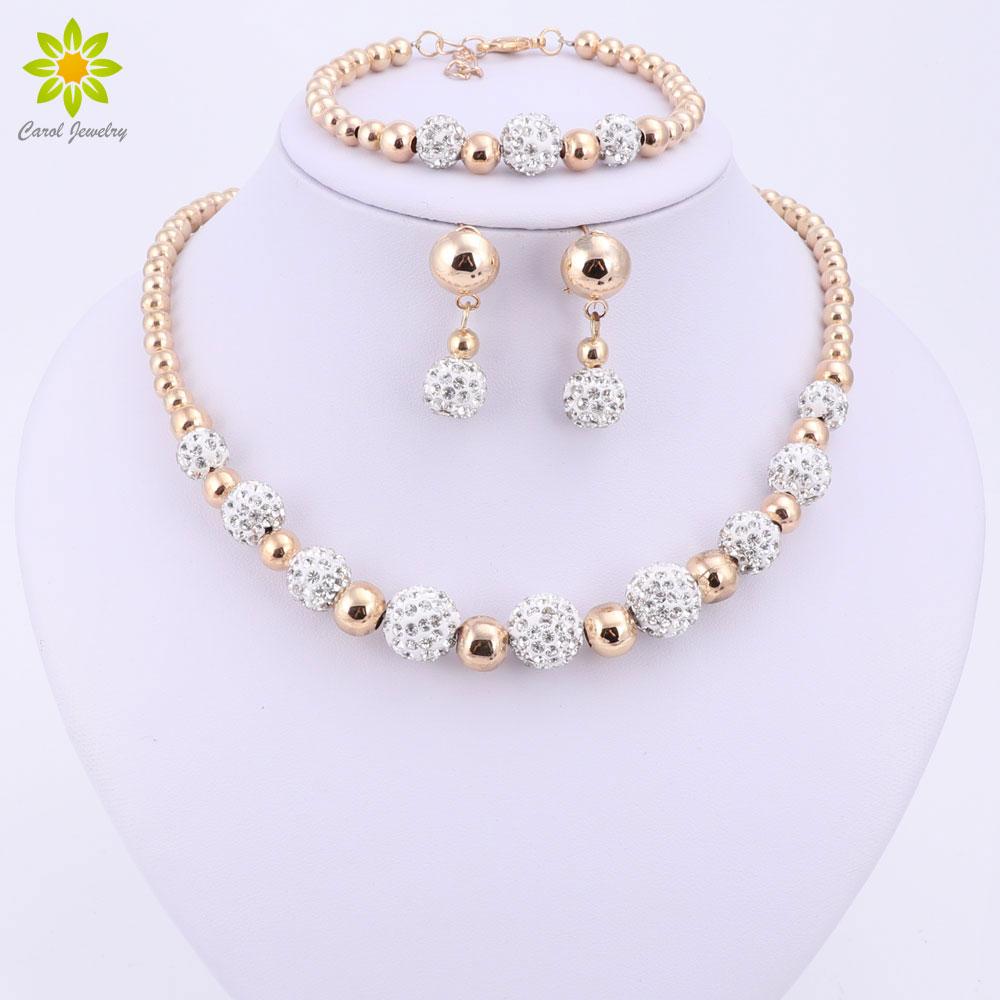 High Quality Gold Color Jewelry Set Nigerian Wedding ...