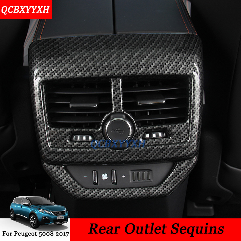 1pcs set Car Styling ABS Rear Air Conditioner Outlet Decoration Cover sequins Rear Frame Auto Accessories