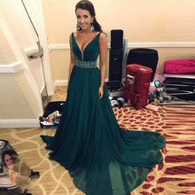 New arrival Evening Dresse Formal vestido noiva sereia prom party robe de soiree gown sexy V-neck chiffon A-line gown dresses