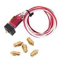 Creality 3D Printer Extruder Assembled MK8 Hot End Kit +5pcs 0.4MM nozzles for Ender 3/ Ender 3 Pro Aluminum Heating Block parts