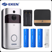 EKEN V5 Smart WiFi Video Doorbell Camera Visual Intercom with Chime Night vision IP Door Bell Wireless Home Security Camera(China)
