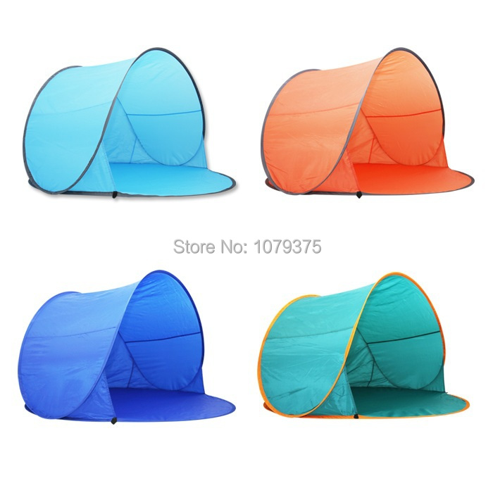 Free shipping Outdoor c&ing tent beach tent UV protection fully automatic sun shelter quick open pop up beach awning-in Tents from Sports u0026 Entertainment ...  sc 1 st  AliExpress.com & Free shipping Outdoor camping tent beach tent UV protection fully ...
