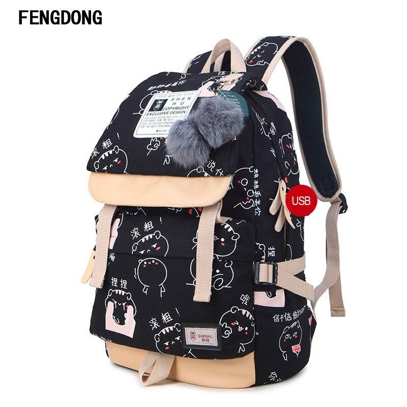 Fengdong легкие Парусиновые портфели Водонепроницаемость школа Рюкзаки самый прочный школьная сумка для подростков Обувь для девочек и детей